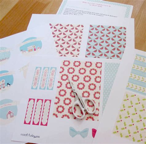 make your own printable card printable make your own card kit by hurley
