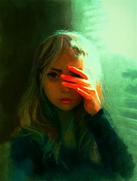 Scared Of The Light Speedpaint By Destinyblue On Deviantart