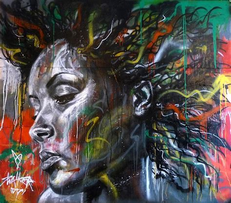 spray paint artist spary paint and graffiti portraits by david walker