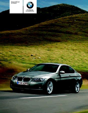 2007 Bmw 328i Manual by 2007 Bmw 328i Owner S Manual Pdf 160 Pages