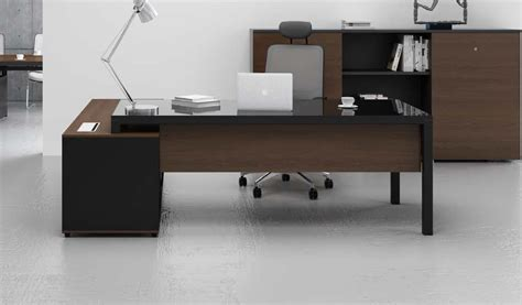 table for office desk stylish office table with black glass top s cabin