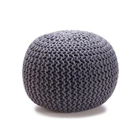 teal knitted pouf knitted ottoman charcoal 29 00 also available in