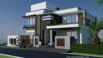 front elevation 1 kanal modern house plan 3d front elevation design 479