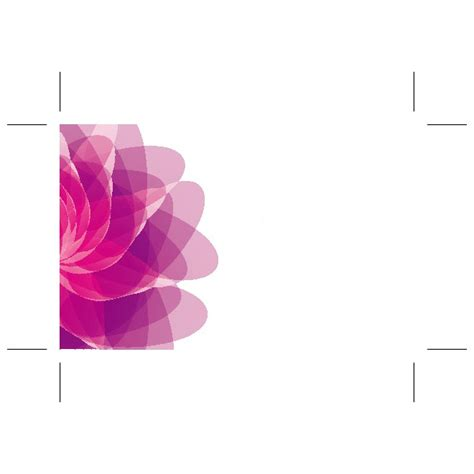 flower templates for card pink flower card template at vectorportal