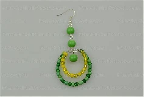 how to make beaded earrings how to make seed bead earrings 4 step seed bead