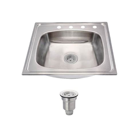 stainless steel single bowl drop in kitchen sinks kohler toccata drop in stainless steel 25 in 4
