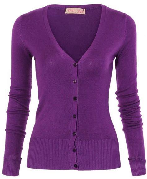 cardigans uk krisp turn up sleeve knit purple cardigan krisp