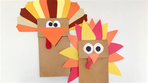 turkey paper bag craft paper bag turkey puppet grandparents