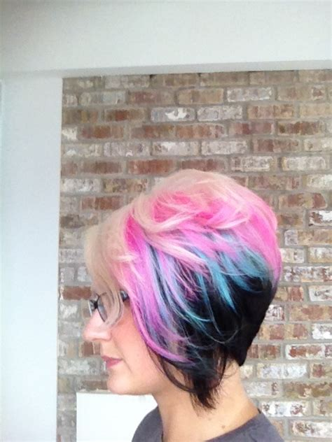 multie colored bob hair styles bob haircut styles with multi color long hairstyles