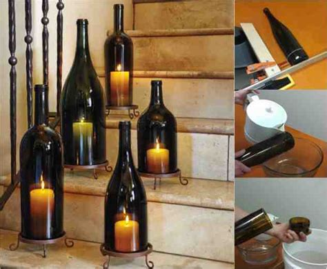 diy candle lantern diy wine bottle hurricane candle lanterns do it