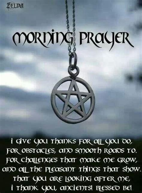 witches prayer morning prayer wicca stuff
