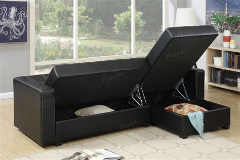 sofa bed and storage black faux leather sofa bed and storage
