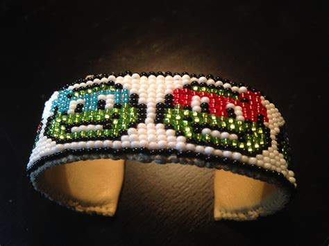 beaded loom bracelets loom beaded turtle cuff bracelet