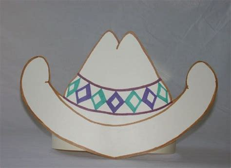 how to make a hat out of card paper cowboy hat template http www janetsquires hat