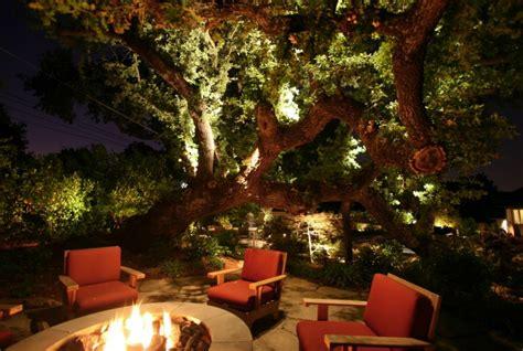 illuminated outdoor trees 10 backyard getaways with landscape lighting