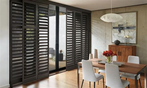 glass door shutters window treatments for patio sliding glass doors
