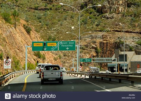 africa n1 city n1 highway of cape town the huguenot tunnel entrance