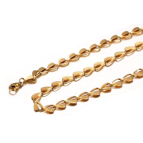 gold chain with black model beichong brand wholesale lastest golden chain necklace new