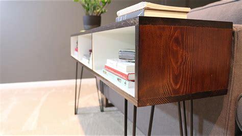 mid century modern sofa table build a mid century modern sofa table diywithrick