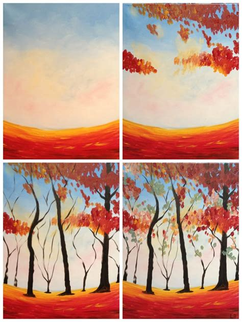 paint with a twist miami evolution of quot colors of autumn quot painted painting with a