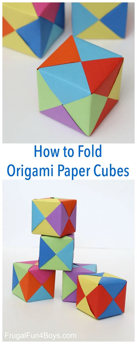 how to make an origami boy how to fold origami paper cubes