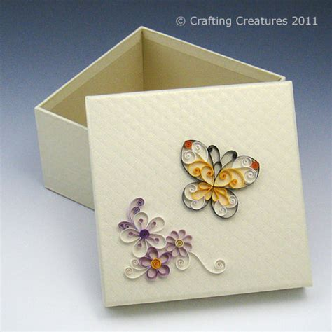 box card quilled butterfly keepsake box card gift tag
