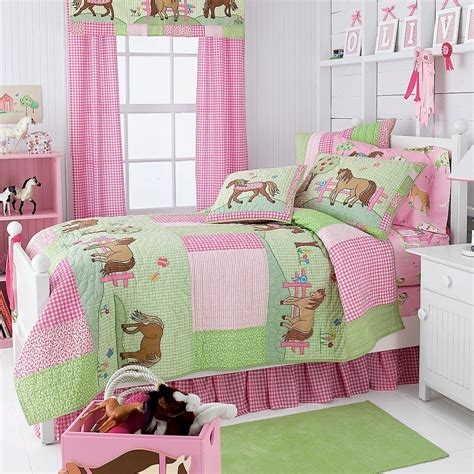 pony bedding sets pony dreams quilt bedding