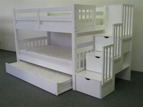 stairway bunk beds save on stairway bunk bed with trundle white