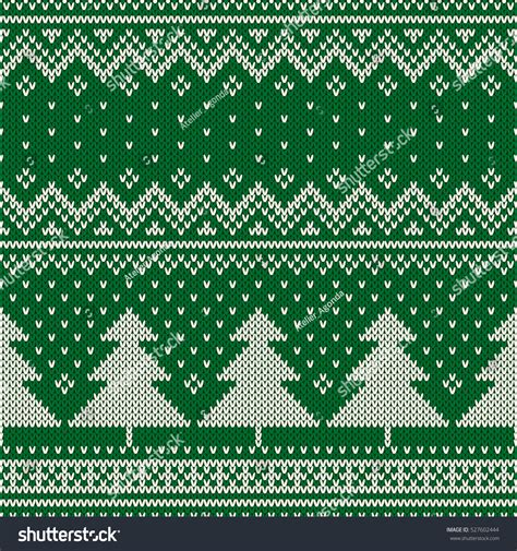 knitting holidays winter seamless knitting pattern stock