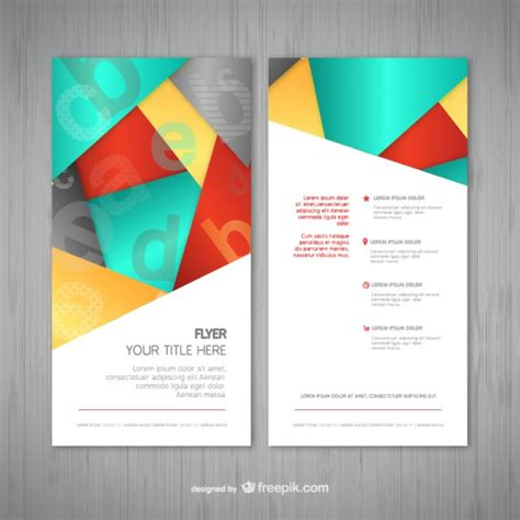flyer template free abstract flyer template vector free