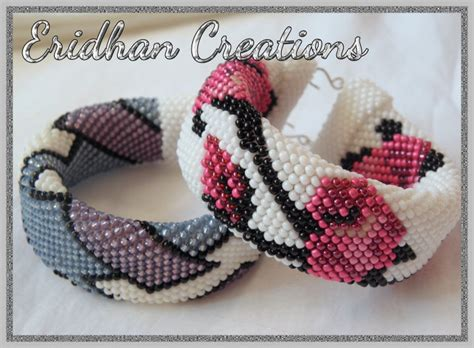 crochet beaded bracelet pattern eridhan creations beading tutorials beaded crochet