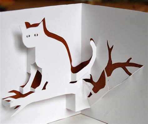how to make a pop up cat card cat pop up card you can and make yourself
