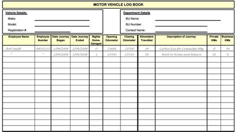vehicle log book template pictures to pin on pinterest