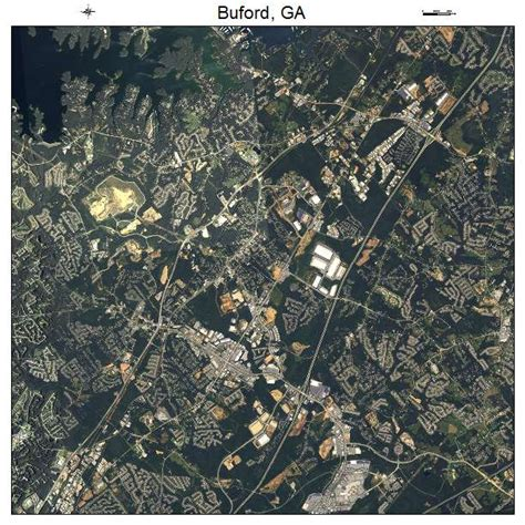 aerial photography map of buford ga georgia