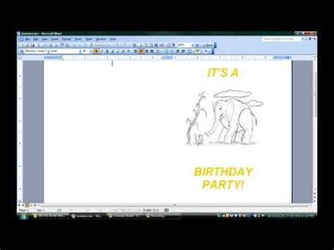 how to make a birthday card on microsoft word how to make folded invitations with microsoft word