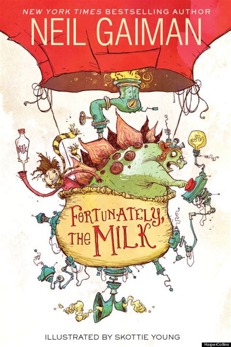 neil gaiman picture books new neil gaiman book fortunately the milk is the