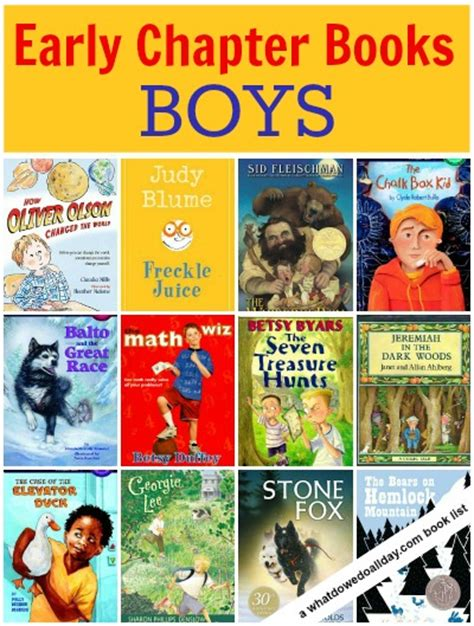 chapter books with pictures early chapter books about boys stand alone novels