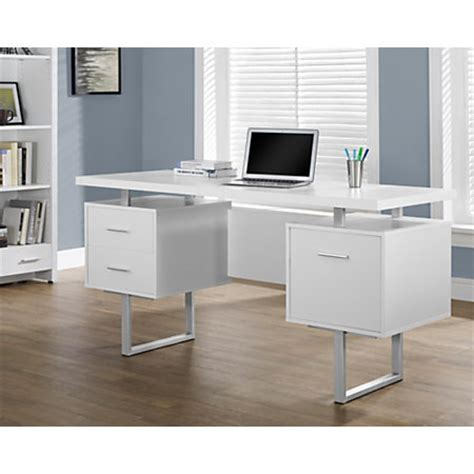 retro computer desk monarch retro style computer desk white by office depot