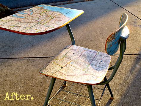 decoupage maps on furniture decoupage furniture tutorial wood desk my altered state