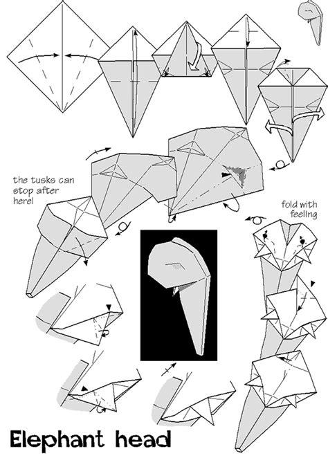 origami elephant diagram elephant s by nick robinson
