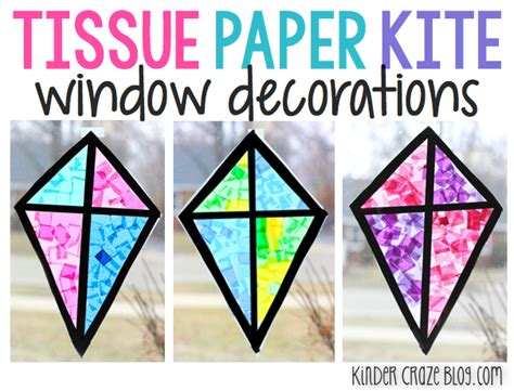 paper stained glass window craft stained glass kite decorations made from tissue paper
