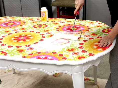decoupage kitchen table how to modge podge kitchen table decoupage