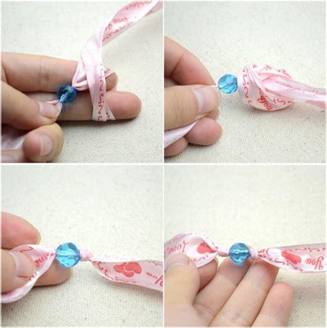 how make jewelry at home pulsera con cinta de raso y cuentas de cristal gu 237 a de