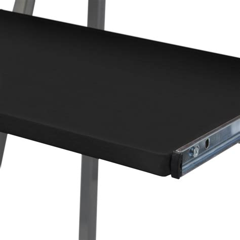 computer desk tray vidaxl co uk computer desk with pull out keyboard tray black