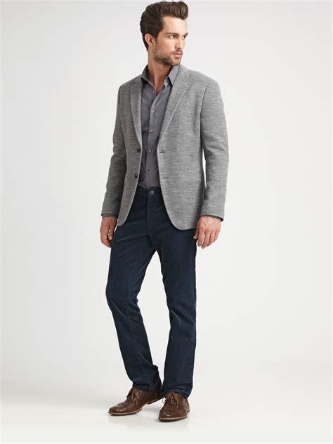 knit blazer mens theory knit blazer in gray for lyst