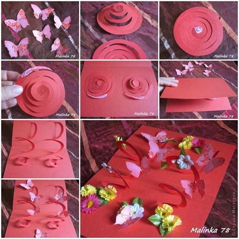 make a 3d card diy 3d butterfly and flower card