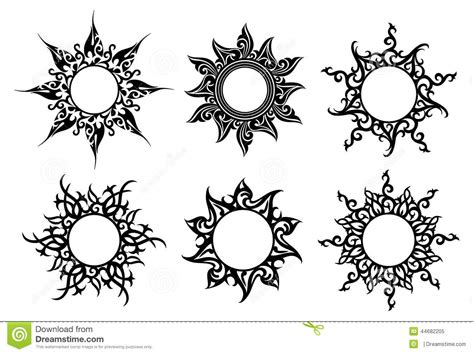 tattoo floral ornaments stock vector image 44682205