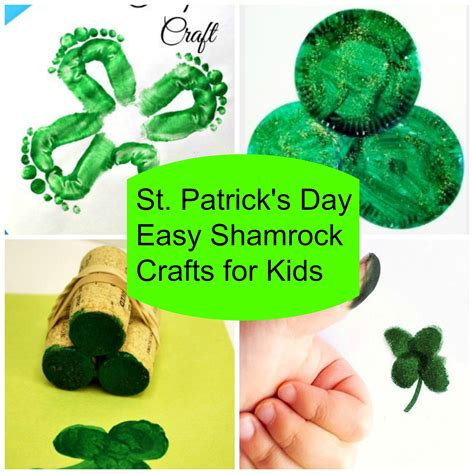 st patricks day crafts for 5 easy shamrock st s day crafts for