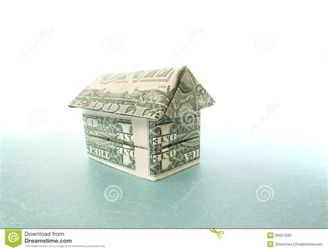 dollar bill origami house origami dollar house stock photography cartoondealer