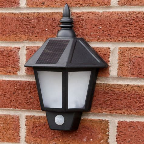 solar powered wall lights solar welcome wall light with pir